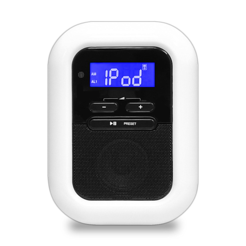 Pyle-Home Clock Radio iPod/iPhone Docking Station with FM Receiver and Dual Alarm Clock PICL36B Sound Around