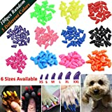 JOYJULY 100pcs Dog Nail Caps Soft Claws Covers Nail Caps Pet Dog Pup Puppy Paws Home Kit, 5 Random Glue, Tips Instruction, XXL