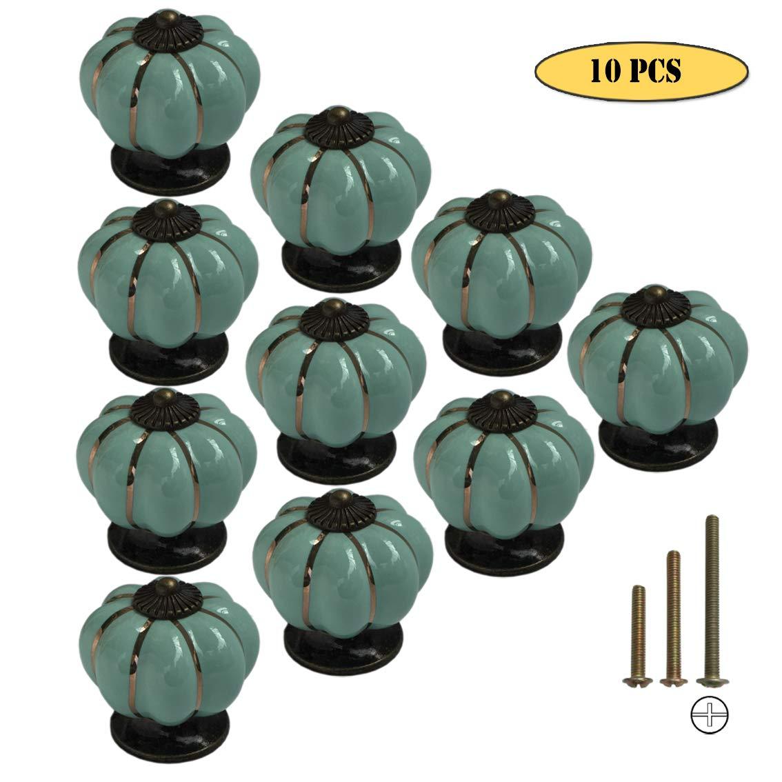 Atfung Keramik M/öbelkn/öpfe M/öbelgriff Griffe f/ür M/öbel Schubladengriffe K/önigsblau Vintage Schubladenknopf Durchmesser: /≈40mm Schrankgriffe 10er-Pack