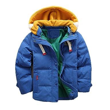 cc8ffabba9241 Enfant Doudoune à Capuche en Duvet de Canard Chaud d hiver Fille et Garçon  Veste Blouson Manches Longues Ski  Amazon.fr  Vêtements et accessoires