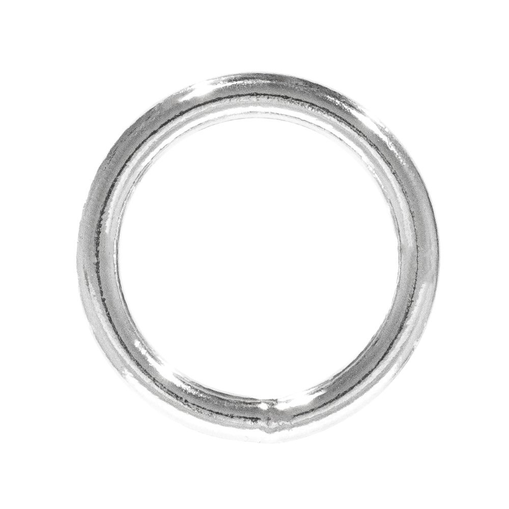 West Coast Paracord Marine Grade 1 Inch Stainless Steel Round O Shaped Ring in Silver 5 Pack Sizes of 2 and 10