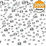 #5: Boao 2000 Pieces Flatback Round Rhinestones Glass Gems with 6 Mixed Sizes (1.6 - 3 mm) for Nail Art, Phone Decorations and DIY Crafts (Clear Color)