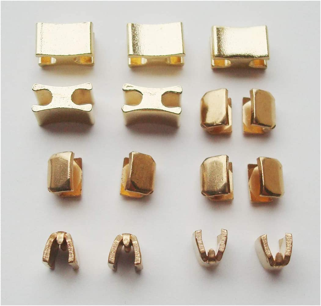 Solid Brass Golden Zipper Top Stop and Bottom Stop,Zipper Repair Kit,Zipper Slider Retainer #10