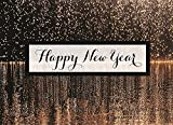 New Year Greeting Cards - N1503. Business Greeting Card with Happy New Year and a Falling Fireworks Background. Box Set has 25 Greeting Cards and 26 White with Gold Foil Lined Envelopes.