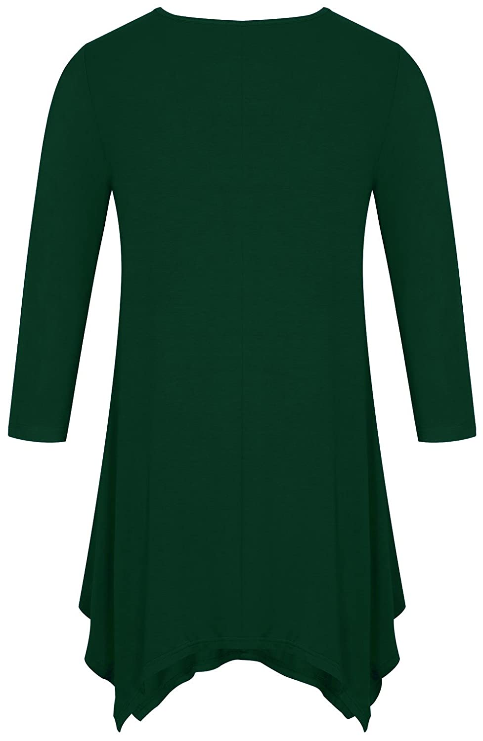 0a9aaa8c455523 Fanfly Women s 3 4 Sleeve Swing Tunic Top Loose Fit Flowy Shirt at Amazon  Women s Clothing store