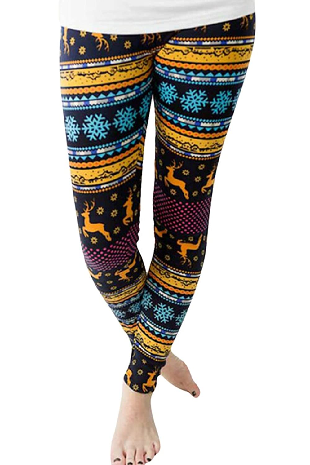 LOV ANNY Women's Stretchy Yoga Leggings Christmas Costume Printed Workout Tights