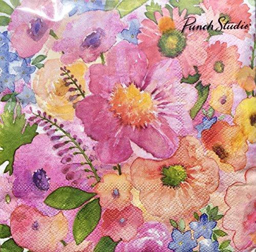 Punch Studio Fresh Spring Garden Paper Luncheon Napkins 13636, Set of 40