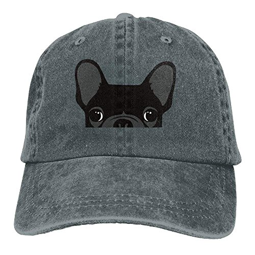 HONGYUDE Cute Black French Bulldog Adjustable Cotton Hat