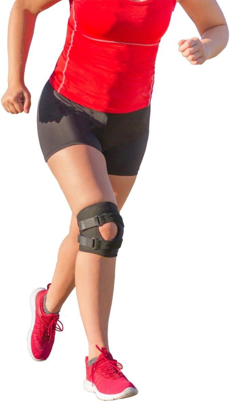 BraceAbility Patellar Tracking Short Knee Brace | Running, Exercise & Basketball Support Sleeve Stabilizer for Post Kneecap Dislocation, Tendonitis, ...