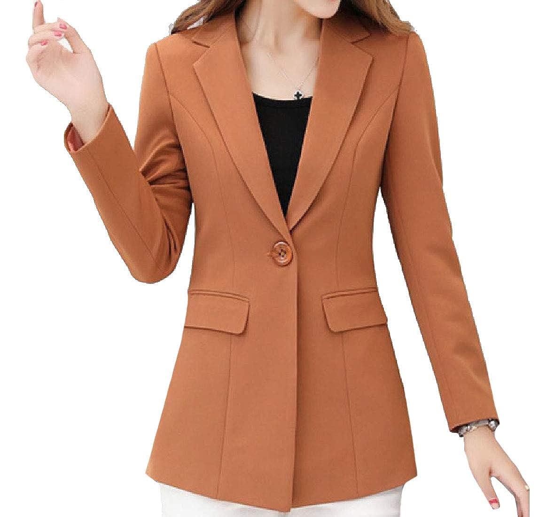 YUNY Women Formal Center Vent Slim Fit Thigh-Length Sport Coat 2 L