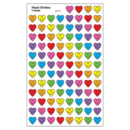 Trend Enterprises Inc. Heart Smiles superShapes Stickers, 800 ct