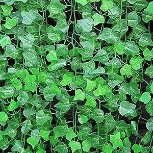 MYLIFEUNIT Green Simulation Flowers Length 95 Inch Artificial Plants Rattan/home Decoration 10 Pcs/set 95