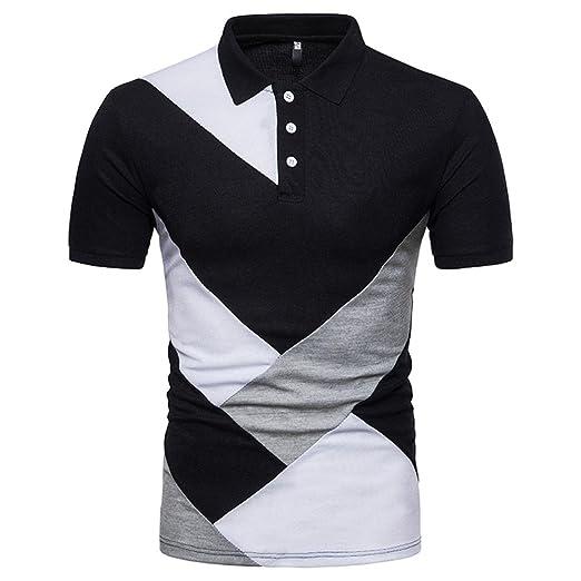 ca7d6286 Sagton Mens Polo Shirts, Casual Tees Big and Tall Golf Shirts Short Sleeve  Top Blouse