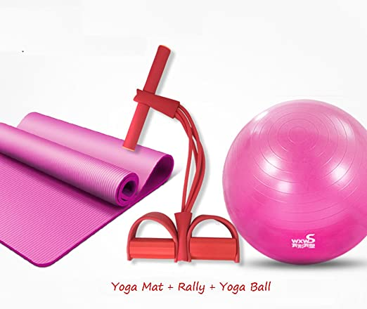 ZDNALS Yoga Ball + Yoga Mat + Rally Thicken Balón de Gimnasia a ...