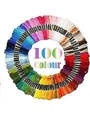 Adkwse Stickgarn,Embroidery Floss Weicher Baumwolle perfekt für Freundschaftsbänder, Stickerei, Kreuzstich