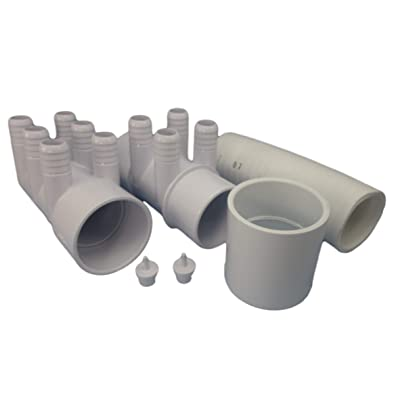 """Manifold Hot Tub Spa 2"""" spg x Dead End x (10) 3/4"""" Coupler Base Kit Video How to: Garden & Outdoor"""