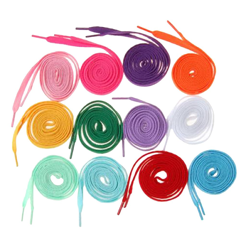 12 Pairs 8mm Wide Shoelaces Shoe Laces Sneakers Shoes String 12 Colors SODIAL(R) 031687