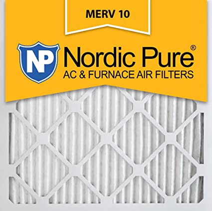 nordic pure 24x24x1 merv 10 pleated ac furnace air filter, box of 6 ...