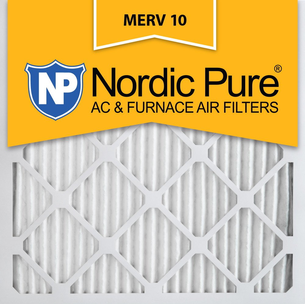 Nordic Pure 16x16x1 MERV 10 Pleated AC Furnace Air Filter,  Box of 12
