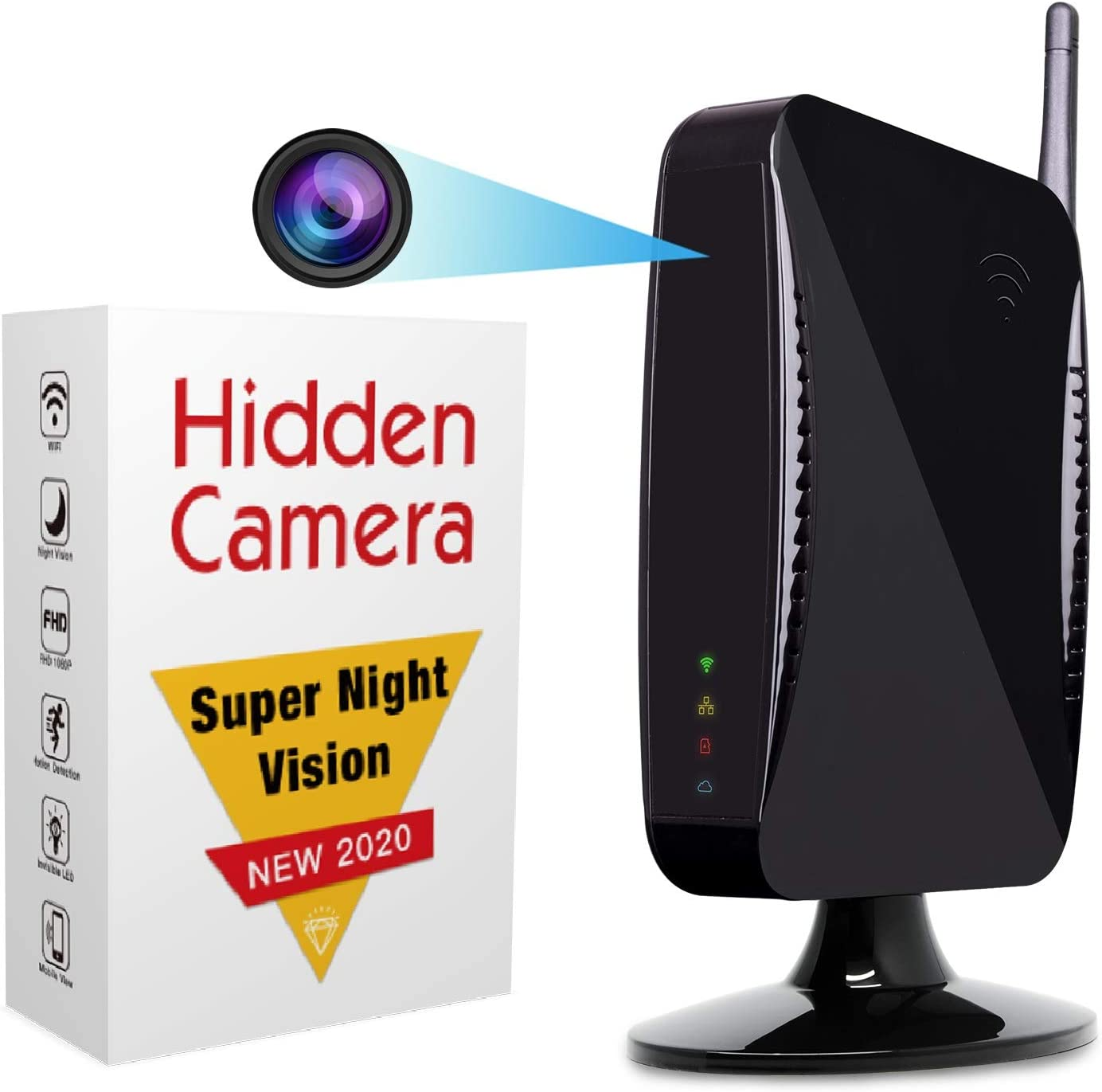 Hidden Camera - Spy Camera by ISR, WiFi 1080p HD Spy Cam, Remote Access App, Night Vision, Motion Detection, Wireless Security System