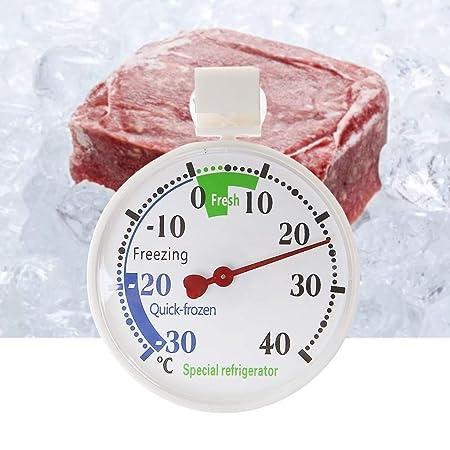 WHER Termómetro para frigorífico o congelador, medidor de ...