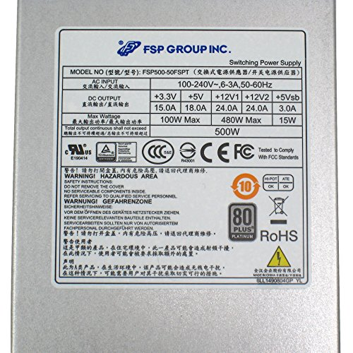 FSP Group Mini ITX Solution / Flex ATX 80 Plus Platinum 500W PMBus V1.2 High Efficiency Power Supply (FSP500-50FSPT) by FSP (Image #6)