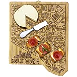 Totally Bamboo Baltimore City Cutting Board, Brown