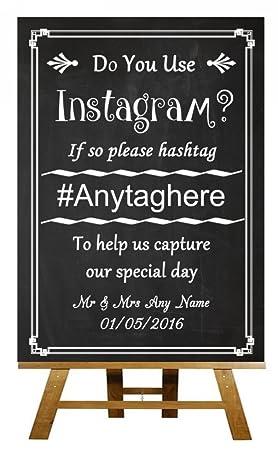 A3 Vintage pizarra Aqua Instagram compartir fotos boda ...