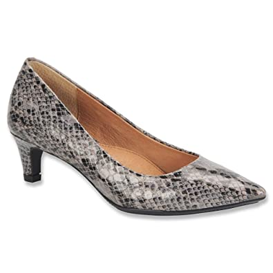Sofft Womens Altessa Grey/Black Snake Print Pump (6 M)