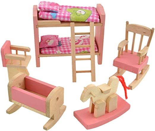 Spielzeug Toy Bunk Beds For Small Tiny Dolls Calico Critters Lol Dolls Pretend Play Kids Triadecont Com Br