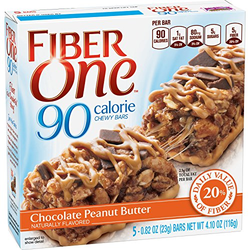 Fiber Peanut Butter - Fiber One 90 Calorie Bar Chocolate Peanut Butter 5 - 0.82 oz Bars