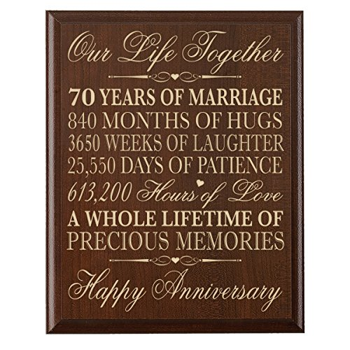 70th Wedding Anniversary Wall Plaque Gifts for Couple parents, 70th Anniversary Gifts for Her,him 70th Wedding Anniversary Gifts for Him 12