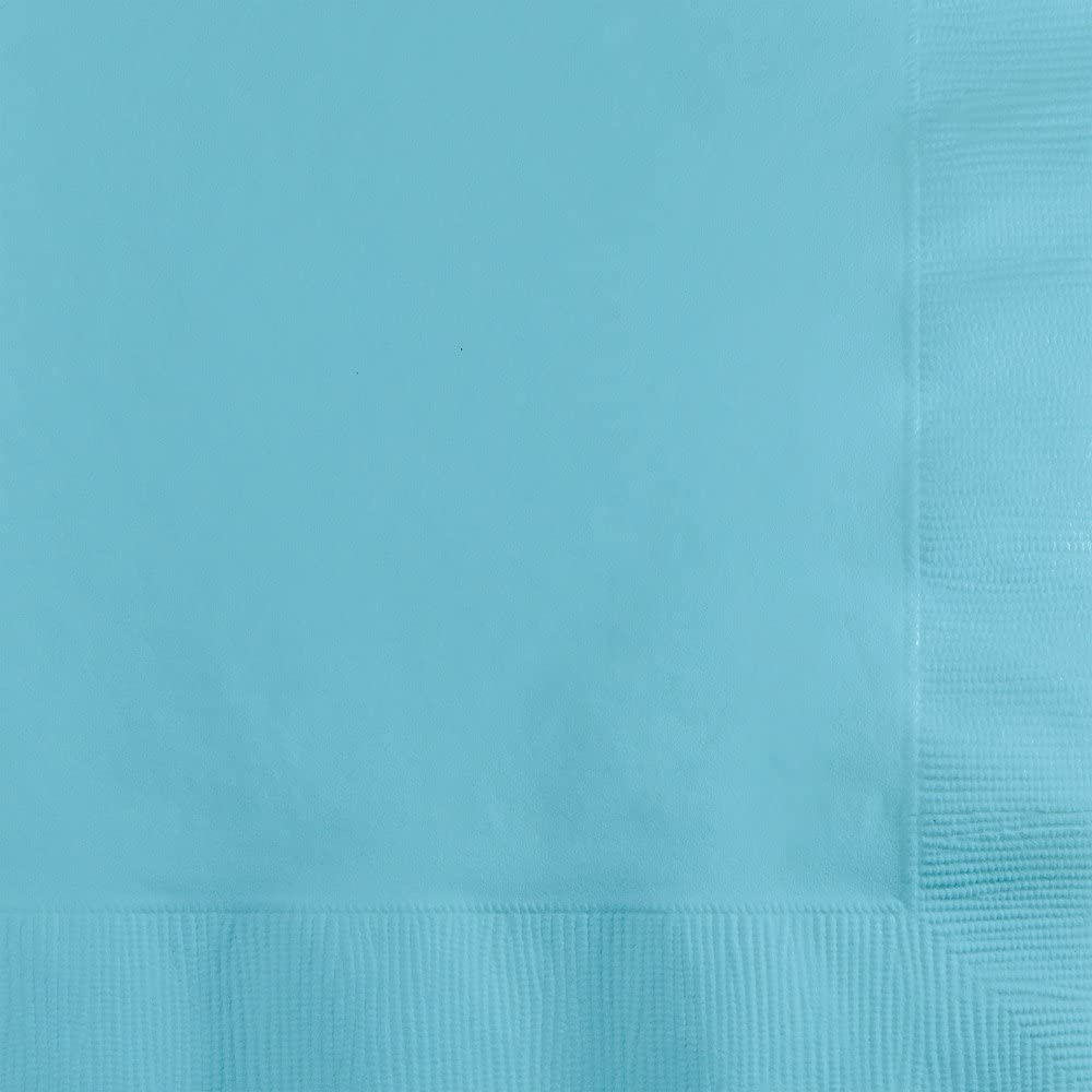 Creative Converting 139179154 Paper Beverage Napkins Touch of Color, Pastel Blue