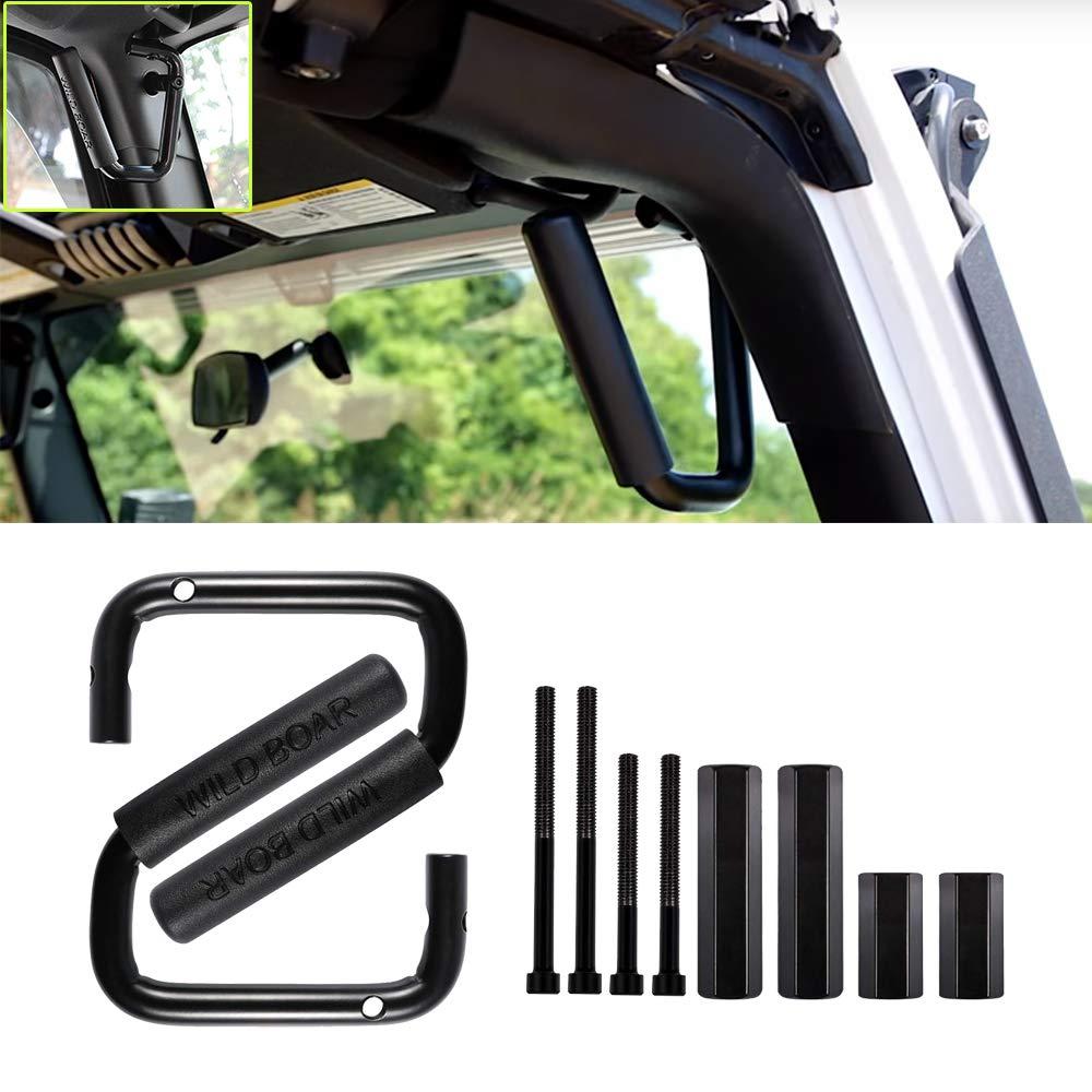 GOHAWKTEQ Front Grab Handles Grip Handle Grab bar for Jeep Wrangler JK JKU Sports Sahara Freedom Rubicon X /& Unlimited 2007-2018