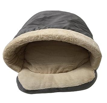 Icegrey Cama para Perro y Gatos Acolchada Casa Mascotas Cama Saco de Dormir Cojin Cálido para Cachorro Perrito Gato 54x40x30cm Gris: Amazon.es: Hogar