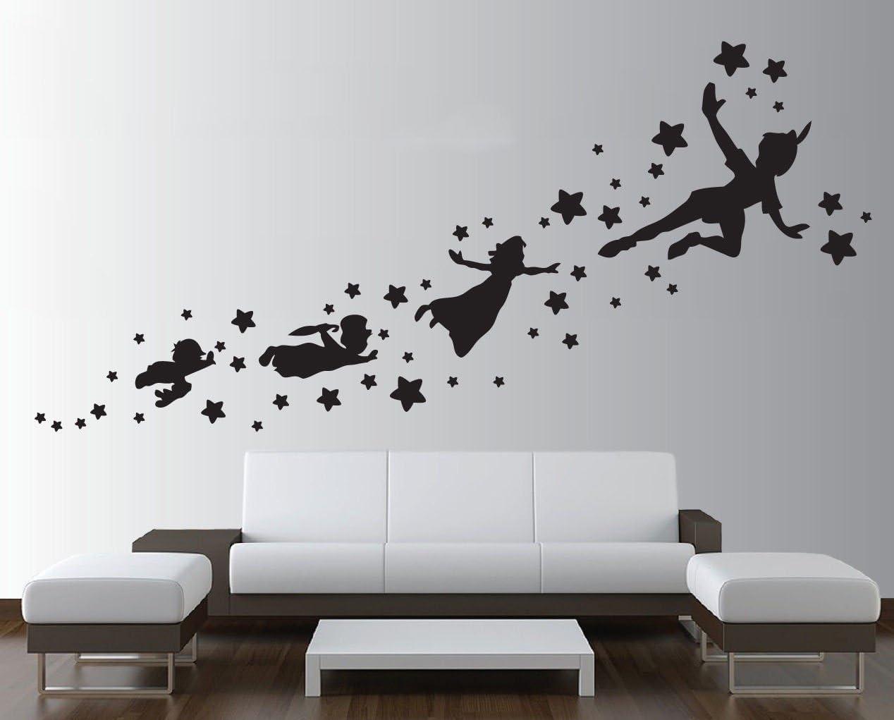 Etiqueta de la pared extraíble de la sombra de Peter pan de ...