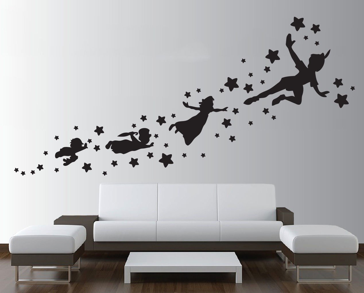 Peter Pan Shadow Wall Decal Removable Vinyl Sticker Mural Window Kids  Children Art: Amazon.co.uk: Kitchen U0026 Home