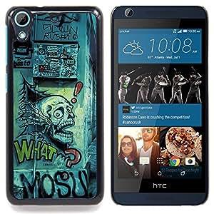 "Qstar Arte & diseño plástico duro Fundas Cover Cubre Hard Case Cover para HTC Desire 626 (Dibujo del cráneo Arte Grafiti Calle Cita Slogan"")"