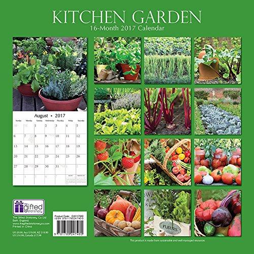 Kitchen Vegetable & Fruit Garden 2017 Monthly Wall