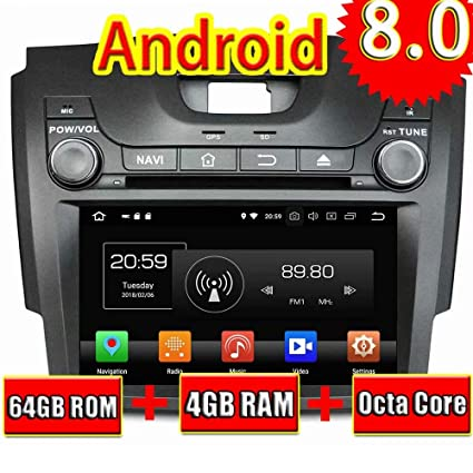 ROADYAKO 2Din 8Inch Anroid 8.0 Auto Multimedia for Chevrolet S10/Isuzu D-Max 2013
