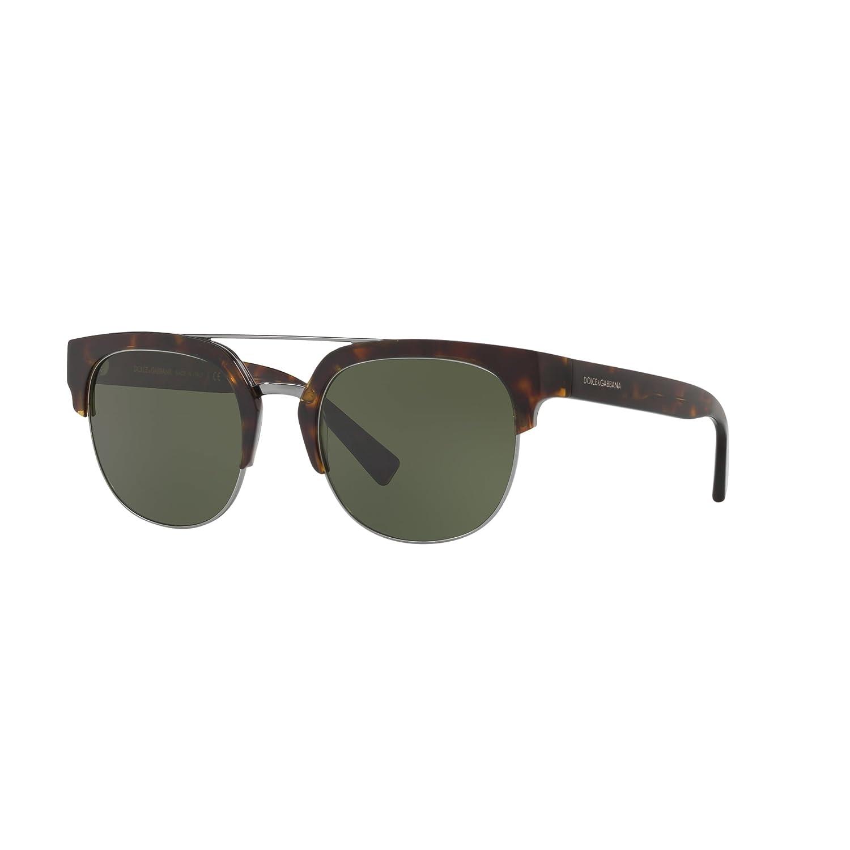 3e505c77b9ae Amazon.com  Dolce   Gabbana DG4317 502 71 Havana Square Sunglasses for  Mens  Clothing