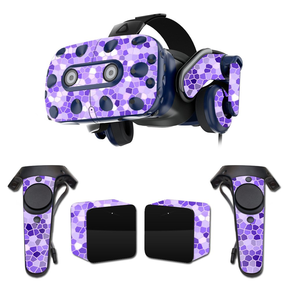 MightySkins Skin For HTC VIVE Pro VR Headset - Stained Glass | Protective, Durable, and Unique Vinyl Decal wrap cover | Easy To Apply, Remove, and Change Styles | Made in the USA