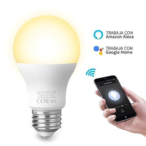 Home Se Led Hub Compatible Inteligente 60w Google Ifttt Bombillas Cálida Alexa No Luz Y Equivalente Requiere Wifi Amazon E27 Echo Con Bombilla 9w u3cFKJTl15