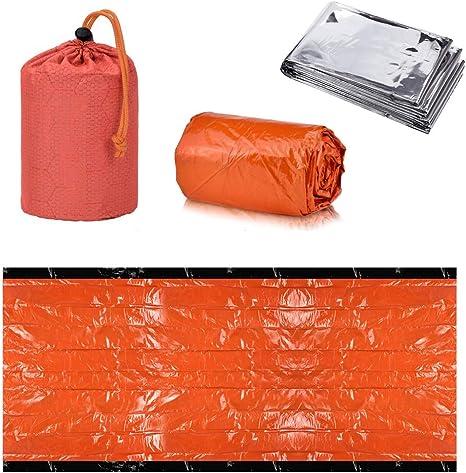 Emergency Bivvy Bag PE Aluminum Film Blanket... Shayson Survival Sleeping Bag