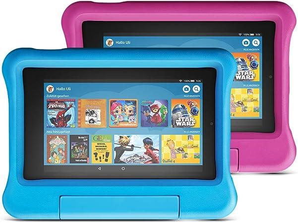 Fire 7 Kids Edition Tablet 7 Zoll Display 16 Gb Blaue Pinke Kindgerechte Hülle Amazon Devices