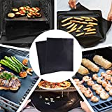 natural gas grill and smoker - Grill Mat - set of 5,Non Stick,Reusable Barbecue Mat Heavy Duty Easy to Clean, FDA SGS Approved Grilling Mats for Natural Gas, Charcoal, Propane, Electric BBQ Grills Fire Pits, Oven or Smoker