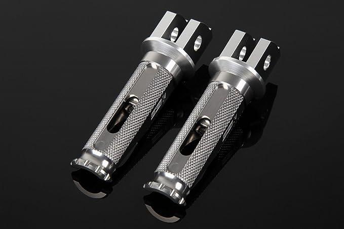 SSK アルミ削り出しタンデムステップ レーシングタイプ パッセンジャー用 取付部:シルバー ステップバーカラー:チタン AFPR112TM