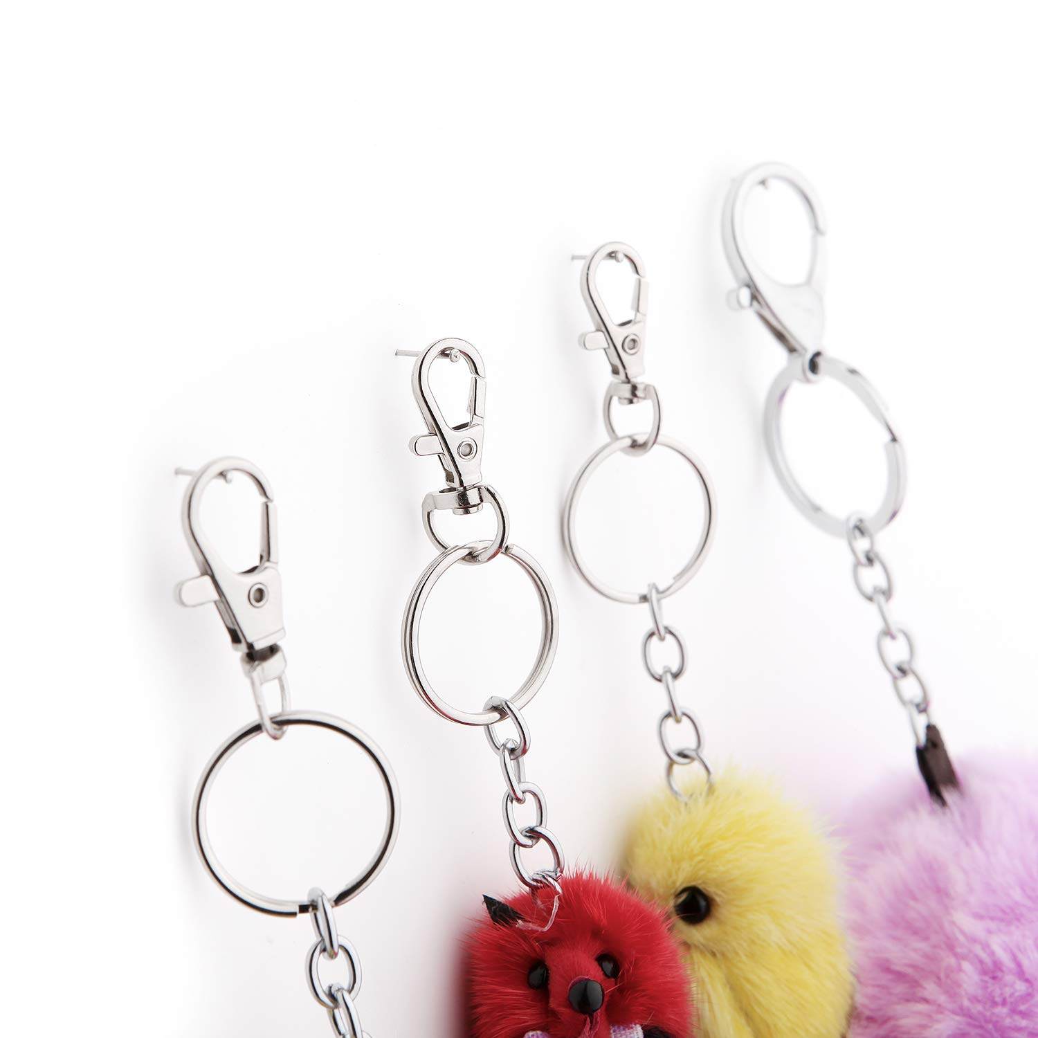 Small Size 100 Pcs Mental Swivel Clasps with Key Rings