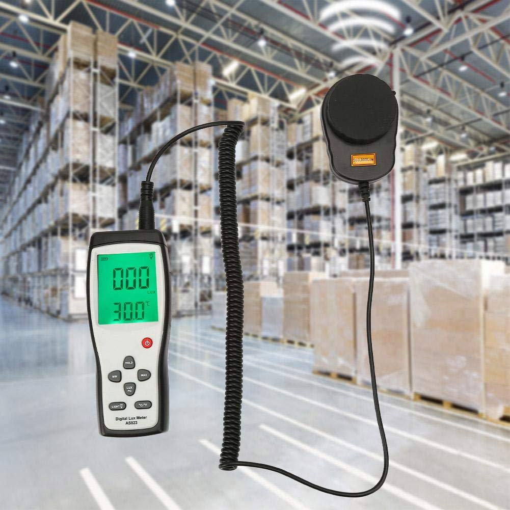 Digital Illuminance Meter,Light Meter with LCD Display,Split Type Luxmeter,Measure Lights 1-200000 Lux,for Homes,Office Buildings, Warehouses,Production Lines,Stage,Stadiums,etc. by Acogedor