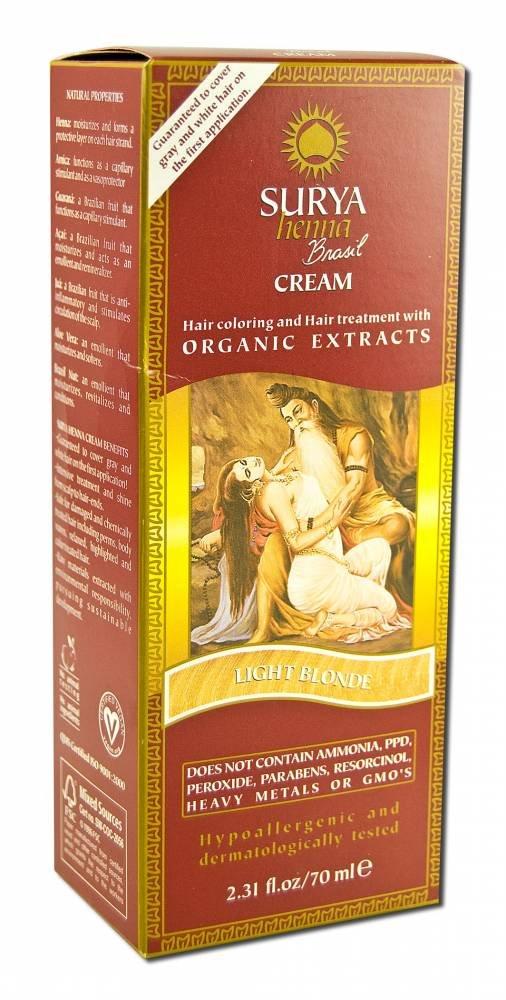 Surya Brasil: Natural Henna Cream, Light Blonde 2.31 oz